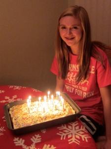 A flaming cake!