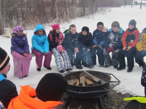 The fire smelled wonderful as we sat & enjoyed it.