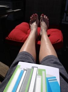 Working on my tan!