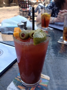 "I ordered from the ""Build Your Own Bloody Mary"" menu.  Tasty!"
