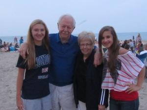 Enjoying family time at the beach~