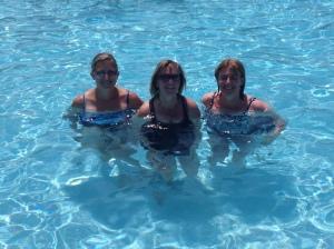 Karin, Me, & Sheri staying cool~