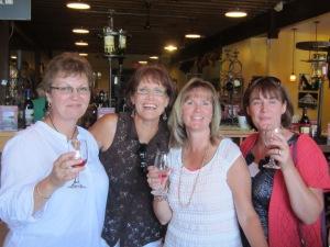 Laura, Jean, Myself, and Sheri enjoying the tastings.