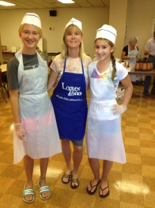 I think the girls secretly loved their aprons.