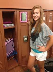 Yay, my locker opens w/out kicking it first.