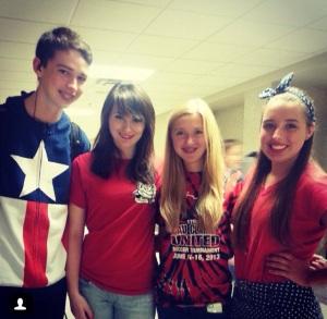 August, Beccah, Megan & Noelle on Patriotic Day.