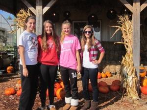 Teenagers and pumpkins!