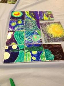 Starry Night on tiles.