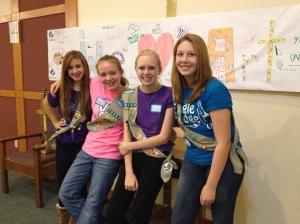 Kelly, Katie, Kirstyn & Krya.  Troop 10252~
