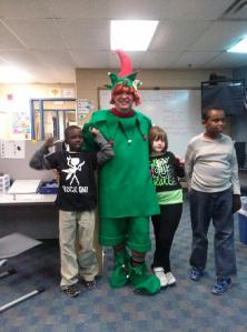 Chegot, Devin & Mo with the big elf~