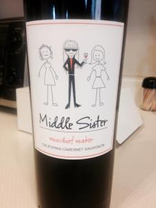 """I thought this was appropriate for my """"middle sister.""""   Cheers!"""