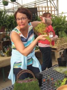Renee needed moss!