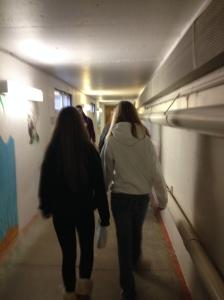 Underground tunnel system.