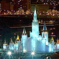 Ice castle at night~