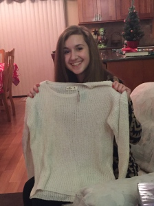 pretty sweater from Megs.