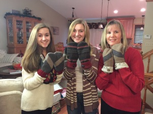 hand made wool mittens from my friend Elizabeth~