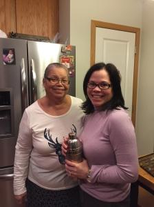 Sandra w/her mom, Gloria.