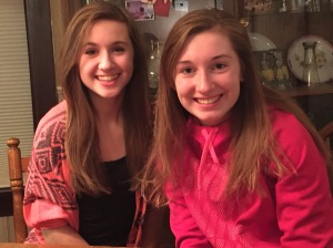 Kelly & cousin Hayley, both 9th graders, are looking a lot alike these days.