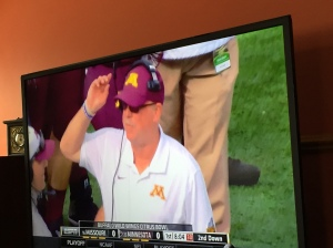 Coach Kill fires up the Gophers.