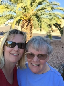 Mom & I goofed around too!  Selfie time!
