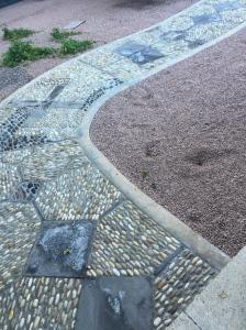 See my footprints.