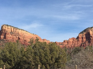 The red-rocks are spectacular to see.