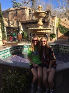 Each little patio had a fountain.