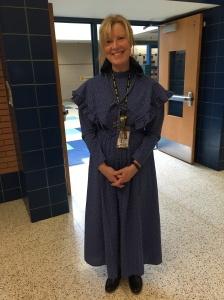 We had our own Laura Ingalls Wilder at school.  Our librarian...how fitting.