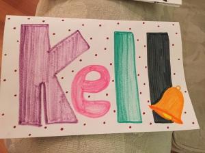 Cute homemade card from Megan.