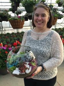 Love Elizabeth's terrarium garden.  She's such an artist!