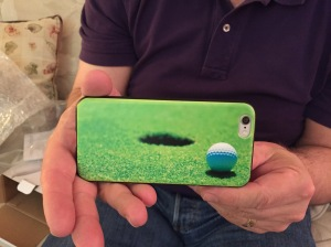 A summer case for his phone.