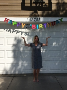 The whole neighborhood knew about my b-day.