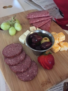 Our lame meat & cheese tray.  We laughed when it arrived~