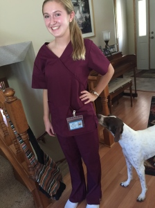 First time putting on the scrubs~