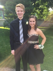 Kelly and her date, Greg.