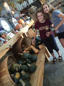 We wanted Emily to take home a squash, but she wasn't having any of that.